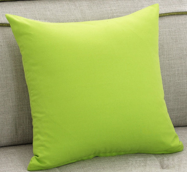 Green Purple Cushion Covers 45X45cm Hot Pink Orange Decorative Throw Pillows Cases Soft Pillowcase Bedroom Sofa Decoration
