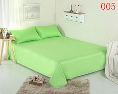 Cotton Flat Bed Sheets Solid Apple Green Home Single Double Twin Full Queen King Sheets Bed Sheet Bedding Bed Linens Bedsheet
