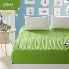 2016 new thick quilted mattress cover fitted bedspread bedding fruit green one sheet set the mattress cases