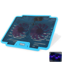 Lightweight Portable Cooling Pads CoolCold K24 USB Two Fans Super Cool Game Notebook Cooler Pad for 14 15.6 17 inch Laptops