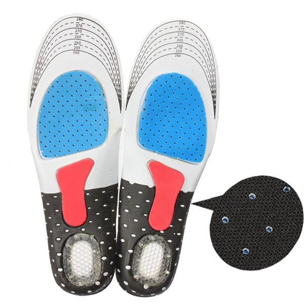 1Pair Insole for shoes foot care pads for foot pain relieve comfortable shoe insoles for men Sport Running Gel Insole C532