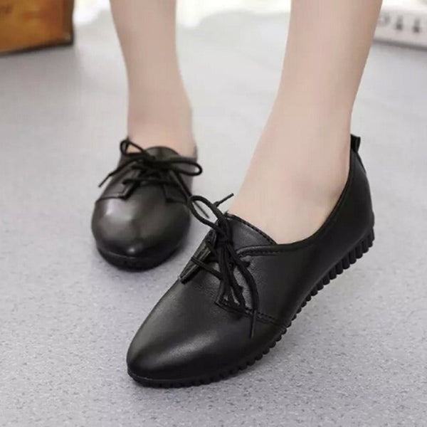 2017 spring and autumn New pattern Flat Non-slip Wear-resisting work Women's Shoes Big code 40 Tie Doug shoes