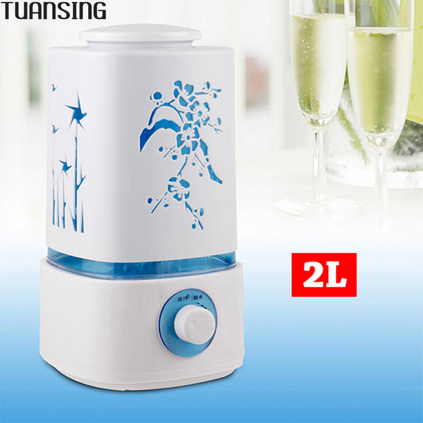 2L Ultrasonic Aromatherapy Diffuser LED Light Home Office Mist Maker Fogger Air Humidifier