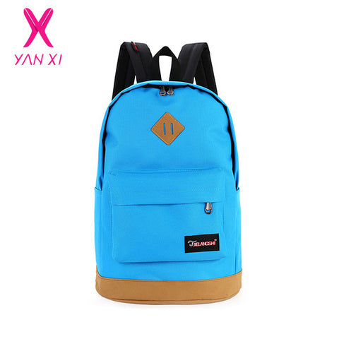 New 2016 top brand cloth school bags for teenagers pop quiz bagpack men mochilas sale spanish oxford women's backpacks