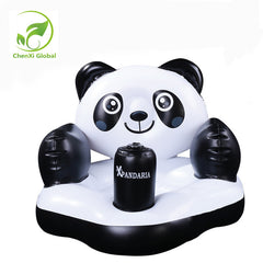 Creative Inflatable Baby Seat Panda Bath Stool Chairs Small Learning Benches Little Sofa for 3 Months Baby