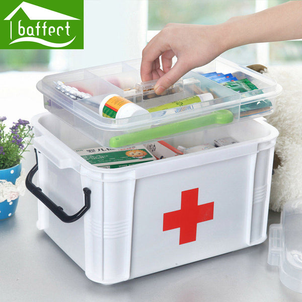 Baffect Large Family Home Medicine Chest Cabinet Health Care Plastic Drug First Aid Kit Box Storage Box Chest of Drawers