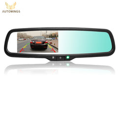4.3 Inch HD 800*480 Auto Dimming Special Bracket TFT LCD Car Parking Rear View Rearview Mirror Monitor Video Player 2 CH Input