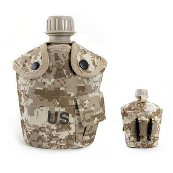 2017 Fashion Water Bottle US Military kettle Hiking Camping Kettle Outdoor Aluminum Canteen Nylon Canteen Cover