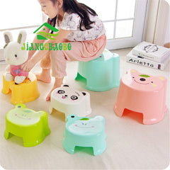 Stools Lovely Living Room Small Plastic Stool Thick Non-Slip Bath Bench Cartoon Child Stool Changing His Shoes Stool