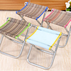 Fishing Traveling Necessity Foldable Cloth+Metal Bench Portable Stool Outdoor Activity Tool  21*20*23.5cm