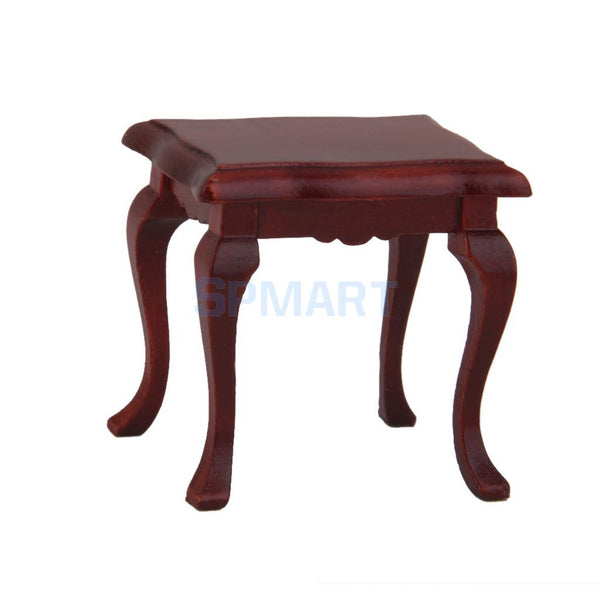 1:12 Dollhouse Minature Furniture Wooden Bench Stool Free Shipping