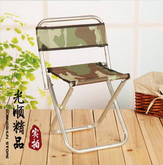 Army green aluminum bench metal folding stool Outdoor camping fishing stool Mazar-e-sharif bearing 250-300 k Convenient to carry