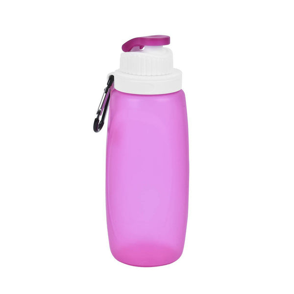Non-toxic material Silicone Water Bottle Collapsible Folding Camping Canteen Traveling Accessories