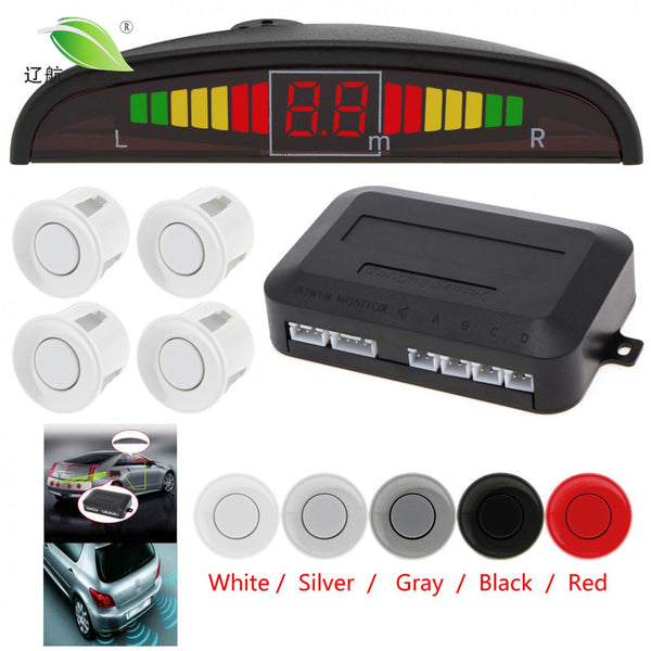 Light heart Car Auto Parktronic LED Parking Sensor Ultrasonic Reverse Backup Sensors Radar Detector Multi-color Optional