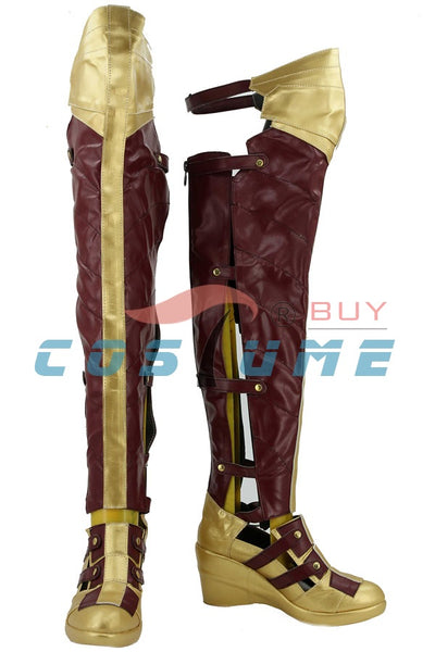 Batman v. Superman: Dawn of Justice League Wonder Woman Diana Boots Cosplay Shoes Movie Halloween Carnival For Adult Women