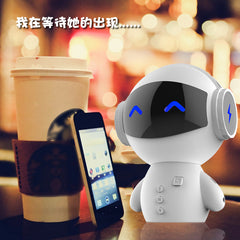 Bluetooth Speaker Mini Robot Car Subwoofer Music Center Hoparlor AUX TF Card MP3 Player Power Bank Handsfree for iphone 6plus 7