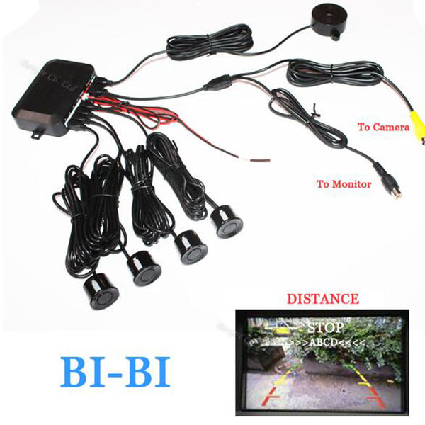 Dual Core CPU Car Video Parking Assistance Sensor Reversing Radar Video all-in-one System Connect Parking DVD & Monitor & Camera