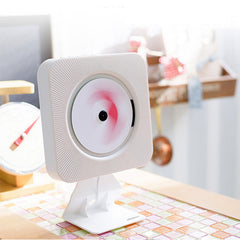 Wall Mounted CD Player Portable Turntable Home FM Radio CD Audio Prenatal Education Early Learning English Bluetooth Speaker
