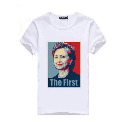 2016 USA Presidential Election Candidate Hillary Clinton Tops Men Women Tshirt