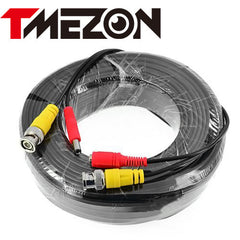 Tmezon BNC Video Power Cable 20m/30m/50m Work for Analog AHD TVI CVI Security Surveillance Camera CCTV Accessories