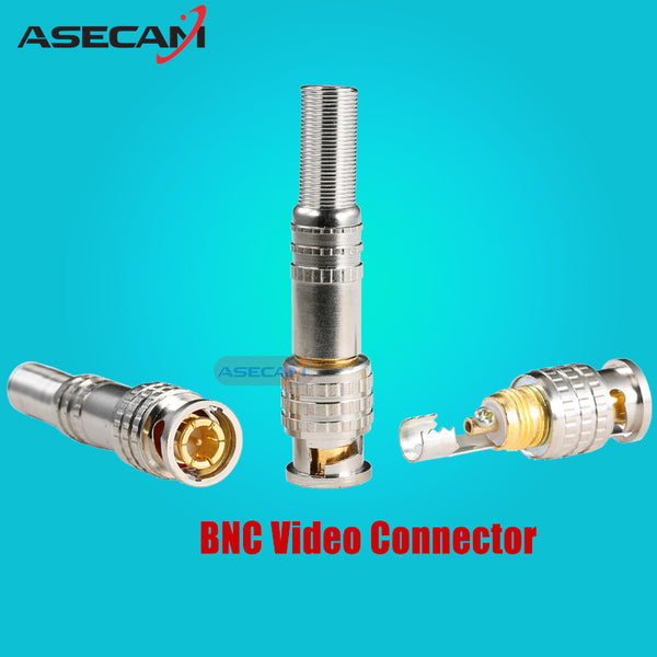 CCTV Accessories PURE COPPER Soldering BNC Video Male Connector Plug to RG59 Coaxial Cable Coupler Adapter for Security Camera