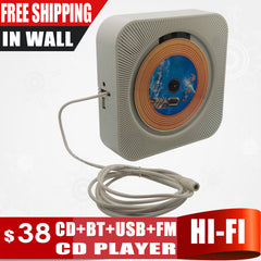 New Touch Key In Wall Mounted CD Player Support CD, Blue Tooth, FM Radio MP3, USB, 3.5mm Stereo Audio Out