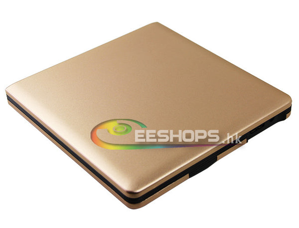 New Best Laptop Computer USB 3.0 External Case 12.7mm SATA Blu-ray CD DVD BD Optical Drive Enclosure Kit Aluminum Luxury Gold