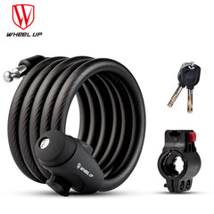 WHEEL UP 1.2m 1.8m Anti Theft Cable Steel Wire Safe Cycle Lock 3 Colors