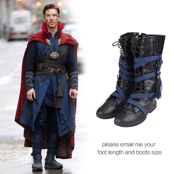 Doctor Strange Cosplay Shoes Stephen Steve Vincent Strange Cosplay Boots Adult Men Movie Superhero Shoes Halloween Custom Made