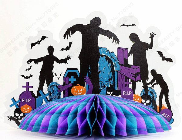 Zombie Party 3D Zombie Centerpiece Table Decor Haunted House Haunted Castle Centerpiece Spooky House Halloween Centerpiece