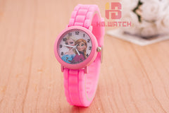 1pcs fashion 3D Cartoon kids Watches Children Kids Boys Elsa and Anna Watch Casual Silicone Quartz Wristwatch Relogio Clock