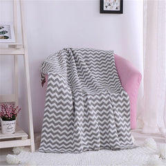 Cotton  Children Wave Section White+Gray Home Textile Plaid Solid Air/Sofa/Bedding Throws Blanket Winter Bedsheet Blankets Soft