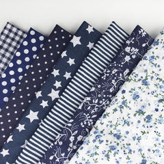 30cm*30cm 7pcs/lot Navy Blue100% Cotton Fabric For DIY Sewing Patchwork Quilting Tissue Kids Bedding Tilda Doll Cloth Textiles