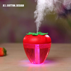 180ML Strawberry Mist Maker Atomizer Aroma Diffuser Air Humidifier for Home Cute Humidifier with LED Lamp Light