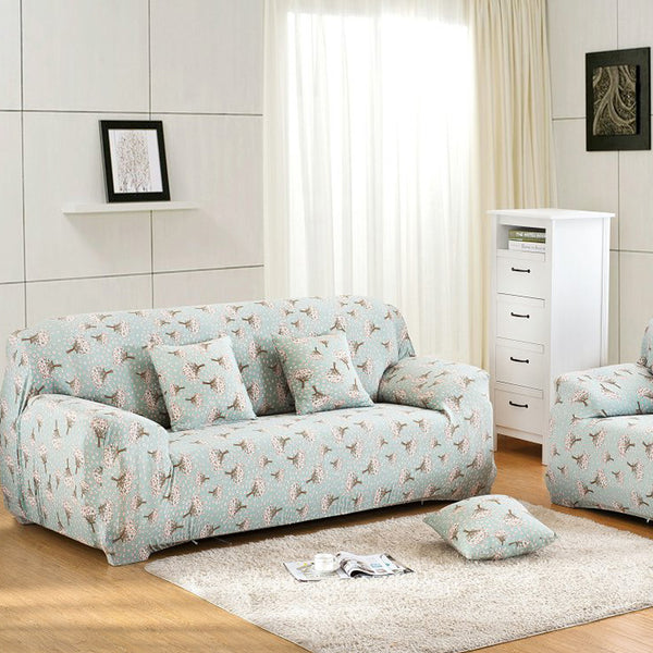 Sofa Sets Cloth Art Spandex Stretch Slipcover Printed Sofa Cover Four Seasons Thin Section of Elastic Printed Spandex Sofa Sets