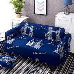 Blue sofa cover elastic corner cover for living room Multi-size stretch couch loveseat section sofa cover polyester slipcovers