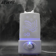 ATWFS Ultrasonic Fogger LED Oil Aroma Diffuser Mist Maker Aromatherapy Nebulizer Vaporizer Air Humidifier