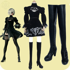 nier automatas automata 2b cosplay boots costume nier_automata a2 nier automata 9s shoes halloween costumes for women anime