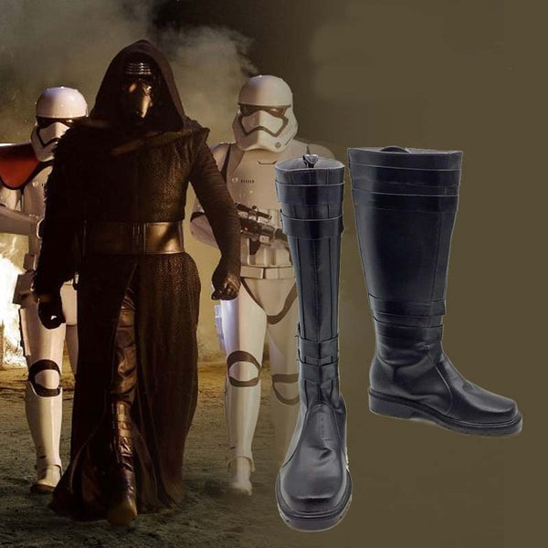 Star Wars 7 The Force Awakens Kylo Ren Cosplay Shoe Anime Halloween Party Boots  Custom-made