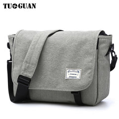 TUGUAN Men Messenger Bags Men's Fashion Business Travel Shoulder Bags female Canvas Briefcase Men Crossbody Bag Handbag XB1701T