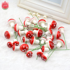10pcs Mini Foam Mushroom Artificial Plant Flowers For Wedding  Fungus Decoration DIY Wreath Gift Scrapbooking Craft Bacterium