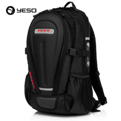 YESO Multifunction Laptop Backpack Men Rucksack Hard Shell Armor Waterproof Oxford 14 15.6 Inch Business Casual Travel Backpacks