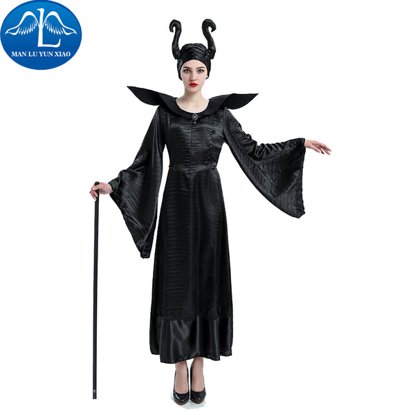 MANLUYUNXIAO Maleficent Costume Maleficent Cosplay Maleficent Dress Halloween Costume For Women With Headwear Dress