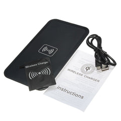 Smart Qi Wireless Phone Charger Pad With Receiver Card With USB Cable Fast Charging For Samsung For Galaxy S5 i9600