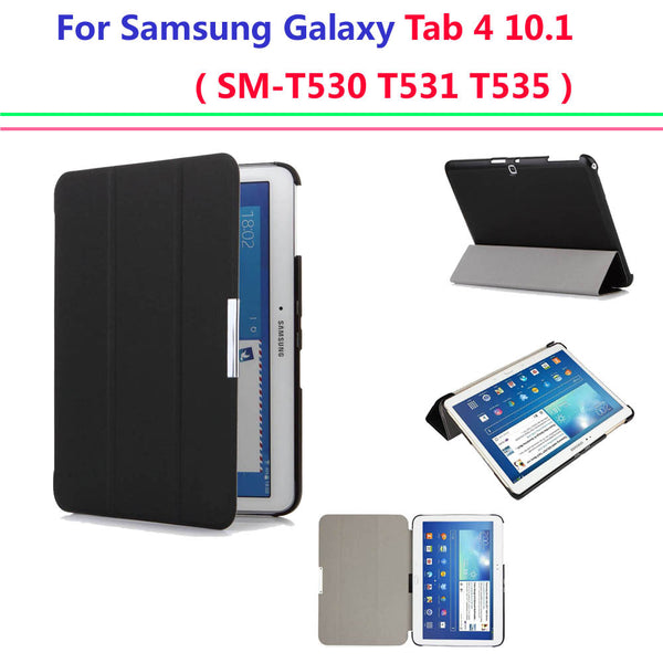 Hot Ultra Slim case cover for Samsung Galaxy tab 4 10.1 smart cover case Auto Sleep sm-T530 T531 T535 tablet Case