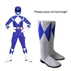 Dan Tricera Ranger Boots Zyuranger Cosplay Costume Accessories Halloween Shoes Props White And Blue Carnival Adult Men Any Size