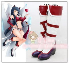 2017 New Shoes Cosplay Anime LOL Game Ahri The Nine-Tailed Fox Cosplay Costume Shoes Custom Made Halloween Free Shipping