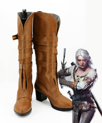 The Witcher 3: Wild Hunt Cirilla cosplay boots shoes for women men halloween carnival