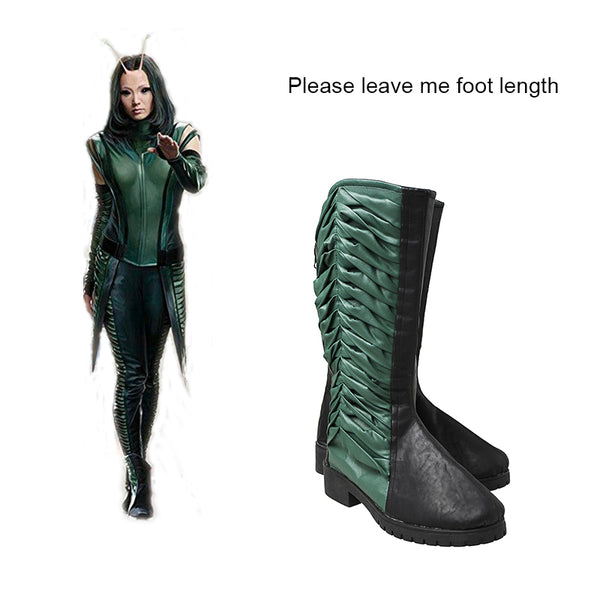 Guardians of the Galaxy 2 Mantis Cosplay Boots Movie Shoes Halloween Props Cosplay Costume Accessory Green And Black Adult Women