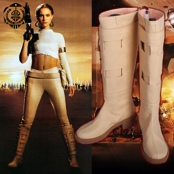 Star War s Episode II - Attack of the Clones Padme Naberrie Amidala PNA PDM Cosplay Boots shoes shoe #GS153 Halloween Christmas